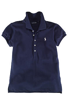 Stretch Mesh Polo Girls 7-16