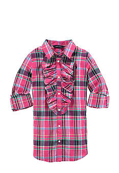 Ralph Lauren Childrenswear Ruffled Plaid Top Girls 7-16