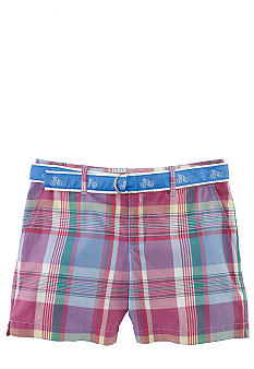 Ralph Lauren Childrenswear Madras Plaid Bermuda Short Girls 7-16