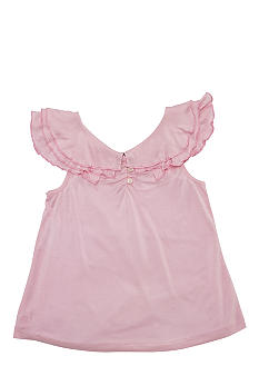 Ralph Lauren Childrenswear Ruffle Flutter-Sleeve Top Girls 7-16