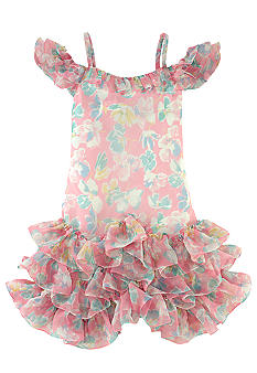 Ralph Lauren Childrenswear Floral Chiffon Dress Girls 7-16