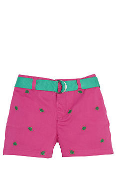 Ralph Lauren Childrenswear Embroidered Chino Short Girls 7-16