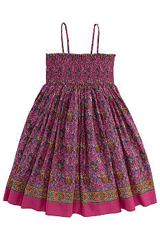 Ralph Lauren Childrenswear Paisley Print Bohemian Dress Girls 7-16