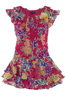 Ralph Lauren Childrenswear Floral Print Chiffon Dress Girls 7-16