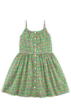 Ralph Lauren Childrenswear Floral Print Pleated Dress Girls 7-16