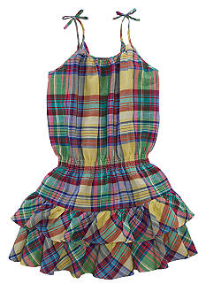 Ralph Lauren Childrenswear Plaid Linen Sundress Girls 7-16