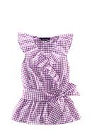 Ralph Lauren Childrenswear Gingham Ruffle Top Girls 7-16