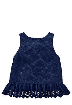Ralph Lauren Childrenswear Floral Eyelet Tunic Girls 7-16