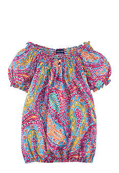 Ralph Lauren Childrenswear Paisley Print Blouse Girls 7-16