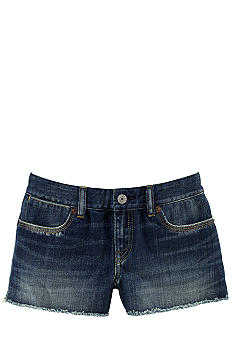 Ralph Lauren Childrenswear Frayed Denim Short Girls 7-16