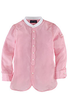 Ralph Lauren Childrenswear Stand Collar Silk Tunic Girls 7-16