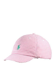Ralph Lauren Childrenswear Gingham Baseball Cap Girls 7-16