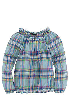 Ralph Lauren Childrenswear Smocked Boatneck Top Girls 7-16