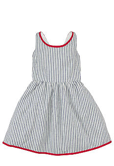 Ralph Lauren Childrenswear Indigo Striped Dress Girls 7-16