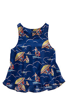 Ralph Lauren Childrenswear Beach Print Tank Girls 7-16