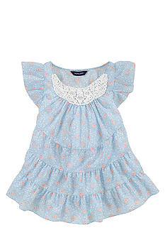 Ralph Lauren Childrenswear Floral Print Tiered Top Girls 7-16