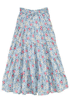 Ralph Lauren Childrenswear Floral Print Tiered Maxi Skirt Girls 7-16