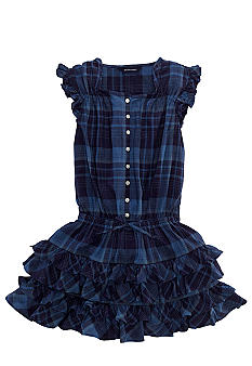Ralph Lauren Childrenswear Madras Drop-Waist Dress Girls 7-16
