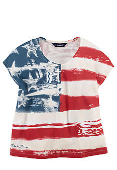 Ralph Lauren Childrenswear Distressed Flag Tee Girls 7-16