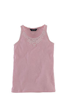 Ralph Lauren Childrenswear Rib-Knit Lace Tank Girls 7-16
