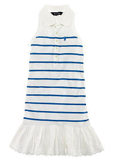 Ralph Lauren Childrenswear Classic Striped Polo Dress Girls 7-16