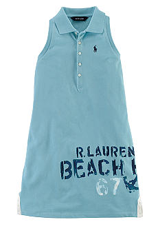 Ralph Lauren Childrenswear Nautical Screenprint Polo Dress Girls 7-16
