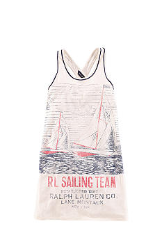 Ralph Lauren Childrenswear Sailboat Graphic Tank Dress Girls 7-16