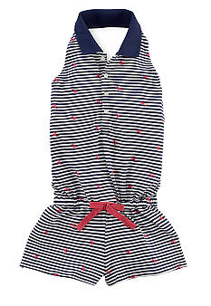 Ralph Lauren Childrenswear Lobster Embroidered Romper Girls 7-16