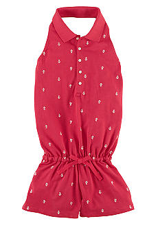 Ralph Lauren Childrenswear Embroidered Skull and Crossbones Romper Girls 7-16