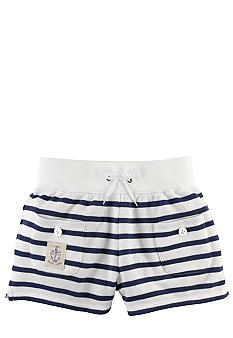 Ralph Lauren Childrenswear Nautical Stripe Terry Short Girls 7-16