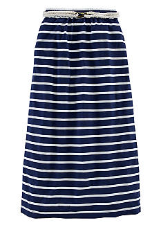 Ralph Lauren Childrenswear Nautical Stripe Maxi Skirt Girls 7-16