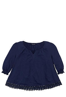 Ralph Lauren Childrenswear Crochet Trim Top Girls 7-16