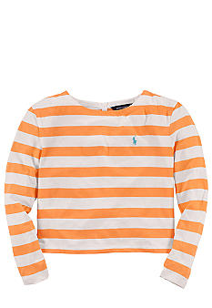 Ralph Lauren Childrenswear Button-Back Striped Shirt Girls 7-16