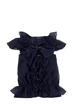 Ralph Lauren Childrenswear Chiffon Ruffle Blouse Girls 7-16