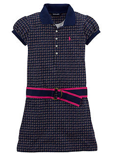 Ralph Lauren Childrenswear Foulard Print Polo Dress Girls 7-16