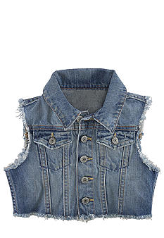 Ralph Lauren Childrenswear Western Denim Vest Girls 7-16