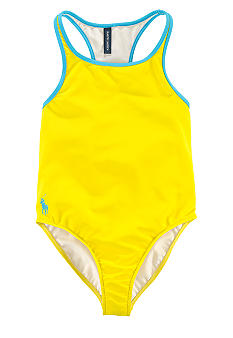 Ralph Lauren Childrenswear Racerback 1-piece Swimsuit Girls 7-16