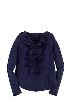 Ralph Lauren Childrenswear Knit Ruffled Top Girls 7-16