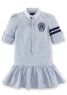 Ralph Lauren Childrenswear 67 R.L.F.C Striped Shirtdress Girls 7-16