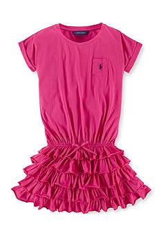 Ralph Lauren Childrenswear Tiered-Ruffle Skirt Dress Girls 7-16