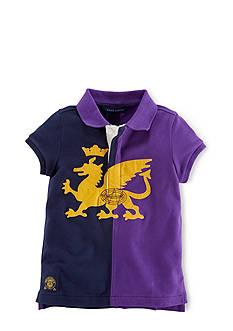Ralph Lauren Childrenswear Crowned Dragon Rugby Shirt Girls 7-16