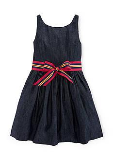 Ralph Lauren Childrenswear Fit & Flare Denim Dress Girls 7-16