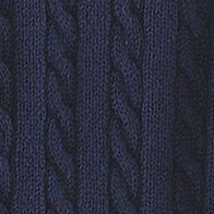 Girls Sweaters: French Navy Ralph Lauren Childrenswear Cable Knit Cardigan Girls 7-16
