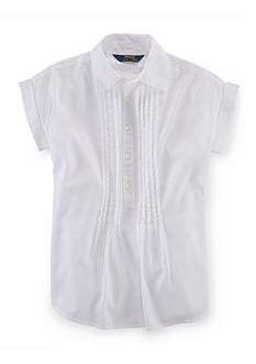 Ralph Lauren Childrenswear Pintuck Cotton Shirt Girls 7-16