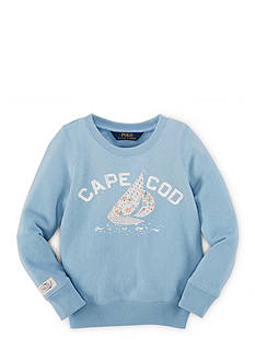 Ralph Lauren Childrenswear Fleece Sailboat Sweater Girls 7-16