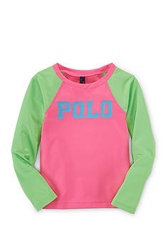 Ralph Lauren Childrenswear Rash Guard Top Girls 7-16