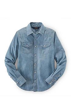 Ralph Lauren Childrenswear Button Front Chambray Shirt Girls 7-16
