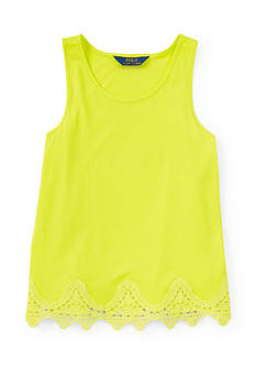 Ralph Lauren Childrenswear Lace Hem Tank Girls 7-16