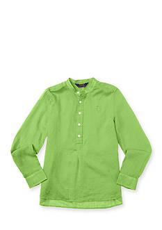 Ralph Lauren Childrenswear Cotton Gauze Solid Top Girls 7-16