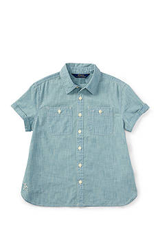Ralph Lauren Childrenswear Chambray Chambray Top Girls 7-16